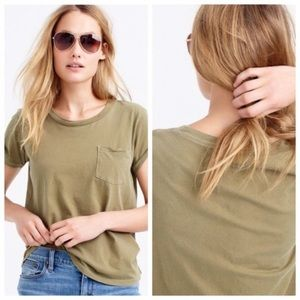 Garment dyed jcrew tee